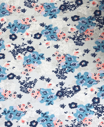The Craft Cotton Co - Ditsy Floral - Grey (2521-01)