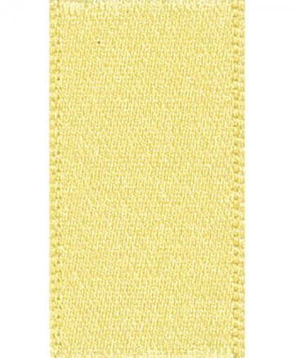 Berisfords Newlife Satin Ribbon - 15mm - Lemon (5)