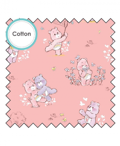 Craft Cotton Co - Care Bears Fabric Collection - Care and Share Bear - Pink (44010403-01)