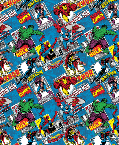 Craft Cotton Co - Marvel Fabric Collection - Comic Burst Blue (13020874JAS03)
