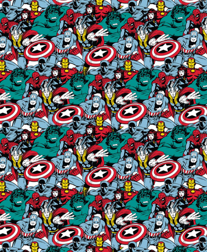 Craft Cotton Co - Marvel Fabric Collection - Power Heros Comic Pop (13020513)