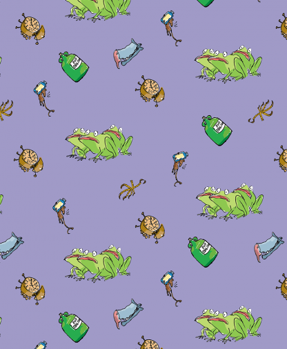 Craft Cotton Co - Roald Dahl Witches - Fabric Collection - 03 Frogs