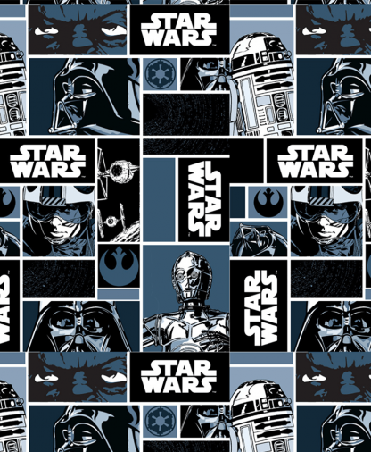 Craft Cotton Co - Star Wars - Fabric Collection - Classic Blocks (2660-00)