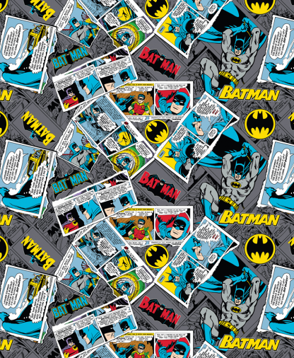 Craft Cotton Co - DC - Fabric Collection - Batman Collage (23200119)