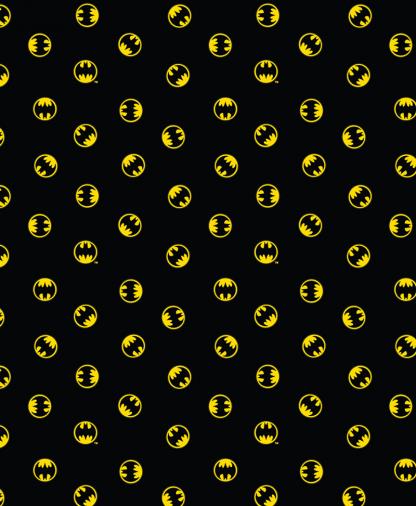 Craft Cotton Co - DC - Fabric Collection - Batman Logo Small - Black (23200124-01)