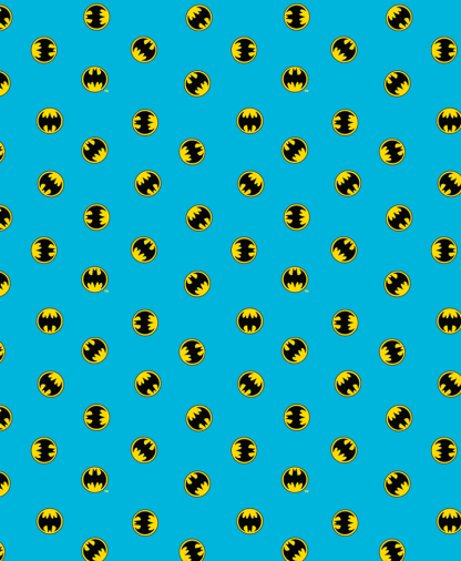 Craft Cotton Co - DC - Fabric Collection - Batman Logo Small - Blue (23200124-02)