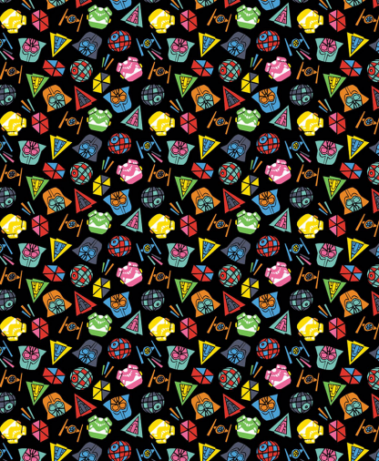 Craft Cotton Co - Star Wars - Fabric Collection - Icons Tossed (73011101)