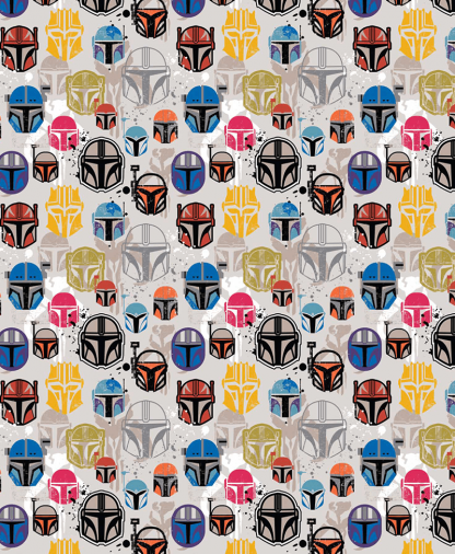 Craft Cotton Co - Star Wars - Fabric Collection - Mandalorian Helmets (73800210)