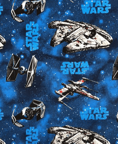 Craft Cotton Co - Star Wars - Fabric Collection - Rebel Ships - Blue (2412-05)