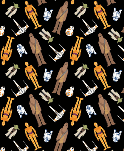 Craft Cotton Co - Star Wars - Fabric Collection - Tossed in Space (73011106)