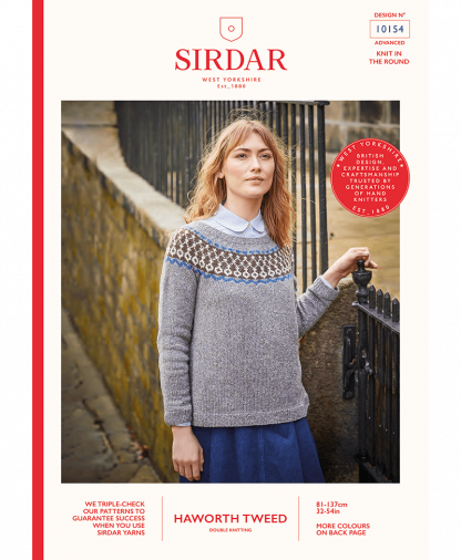 Sirdar 10154 Fair Isle Sweater in Sirdar Haworth Tweed