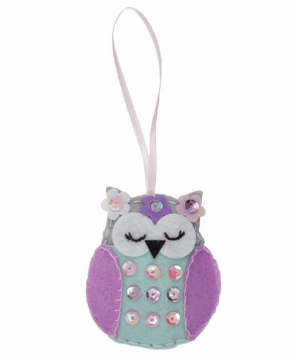 Trimits Make Your Own Felt Decoration Kit - Spring Owl (GCK037)