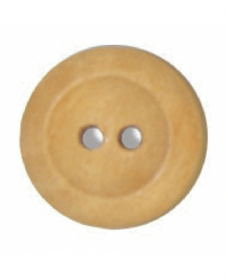 Round Olive Wood Button - Size 24 (15mm) (G176324)