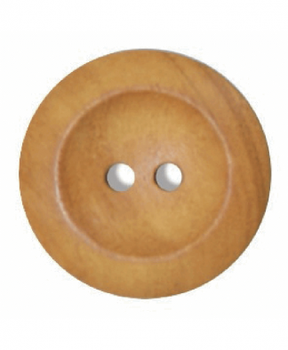 Round Olive Wood Button - Size 40 (25mm) (G176340)