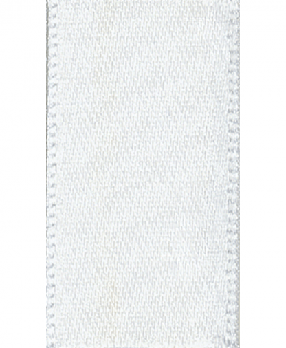 Berisfords Newlife Satin Ribbon - 3mm - White (1)