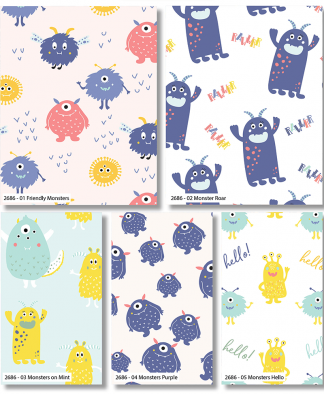 Craft Cotton Co - Cutest Little Monsters - Fat Quarters