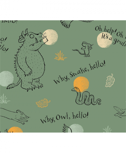 Craft Cotton Co - The Gruffalo Fabric Collection - Why Hello (2667-05)