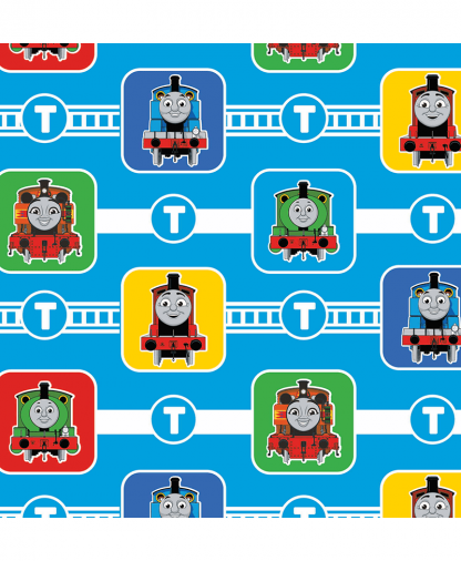 Craft Cotton Co - Thomas and Friends Fabric Collection - Character Blocks (2714-05)