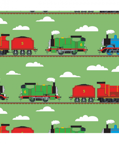 Craft Cotton Co - Thomas and Friends Fabric Collection - Train Track (2714-03)