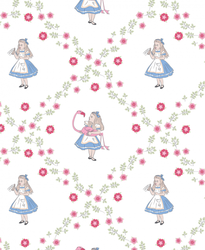 Craft Cotton Co - The V&A Alice in Wonderland Fabric Collection - Alice