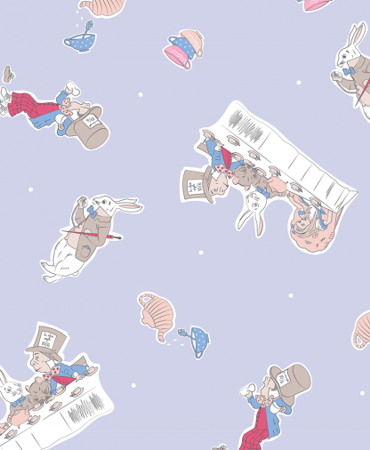 Craft Cotton Co - The V&A Alice in Wonderland Fabric Collection - Mad Hatters Party