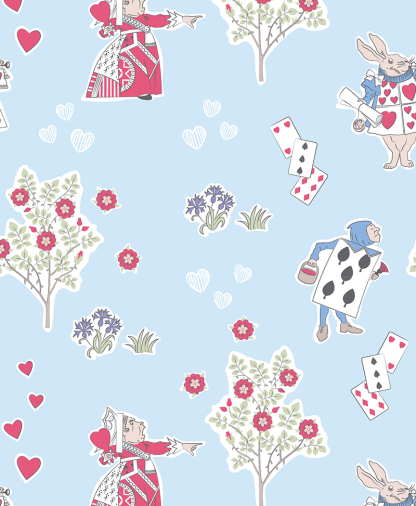 Craft Cotton Co - The V&A Alice in Wonderland Fabric Collection - Queen of Hearts