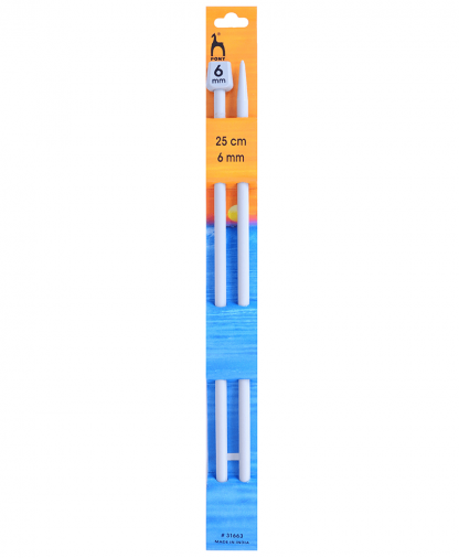 Pony Single Point Knitting Needles - 25cm - 6.00mm (P31663)