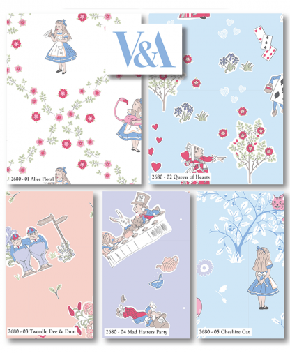 Craft Cotton Co - The V&A Alice in Wonderland Fat Quarter Bundle