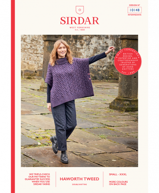 Sirdar_10148_Ladies_Poncho_Haworth_Tweed