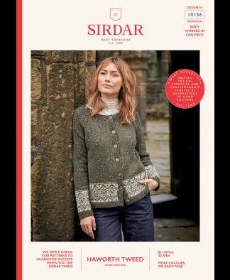 Sirdar 10156 Ladies Cardigan in Haworth Tweed