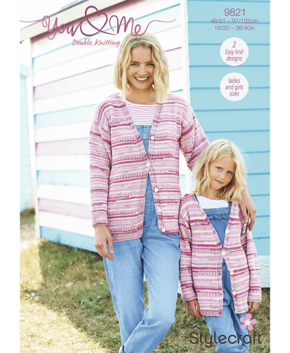 Stylecraft 9821 Cardigan and Sweater in You & Me (Leaflet)