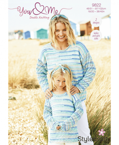 Stylecraft 9822 Cardigan and Sweater in You & Me (Leaflet)