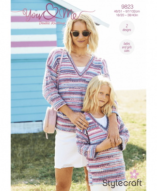 Stylecraft 9823 Sweaters in You & Me (Leaflet)
