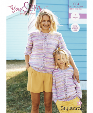 Stylecraft 9824 Cardigan and Sweater in You & Me (Leaflet)