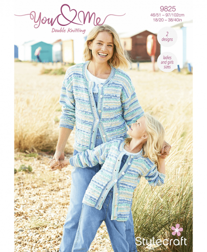Stylecraft 9825 Cardigan and Sweater in You & Me (Leaflet)