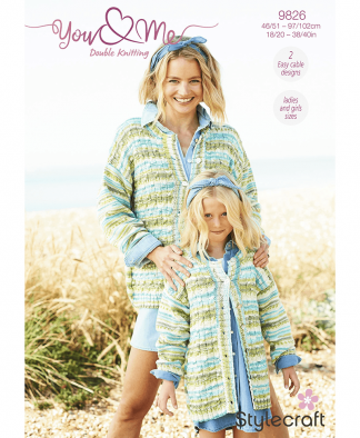 Stylecraft 9826 Cardigan and Sweater in You & Me (Leaflet)