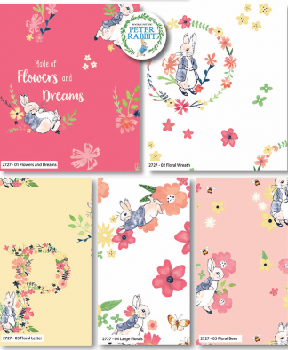 Craft Cotton Co - Peter Rabbit - Flowers and Dreams - Fat Quarter Bundle