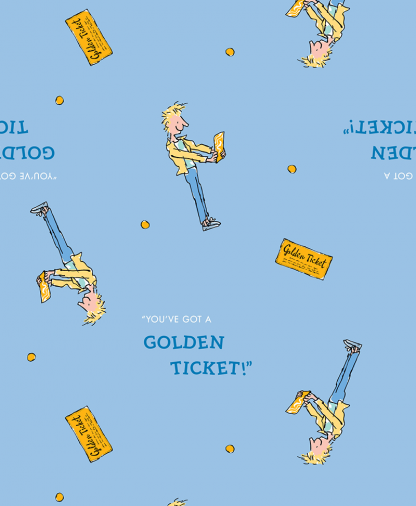Craft Cotton Co - Roald Dahl Charlie and the Chocolate Factory - 05 The Golden Ticket (2751-05)