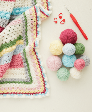 Hayfield Bonus DK Sweet Blossom Blanket Crochet Along
