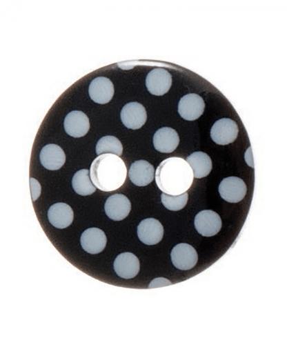 Round Spot Button Size 20 (12mm) - Black (34)