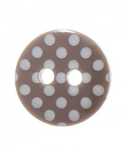 Round Spot Button Size 20 (12mm) - Grey (40)