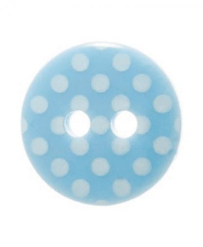 Round Spot Button Size 20 (12mm) - Light Blue (15)