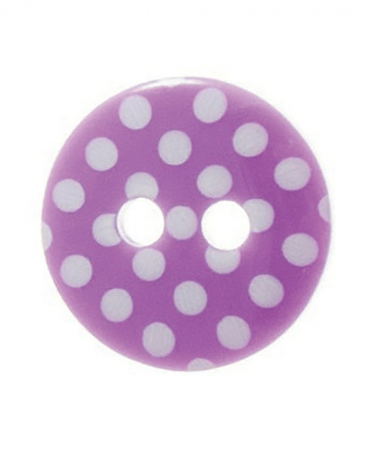 Round Spot Button Size 20 (12mm) - Purple (14)