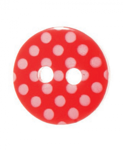 Round Spot Button Size 20 (12mm) - Red (8)
