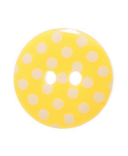 Round Spot Button Size 24 (15mm) - Yellow (4)