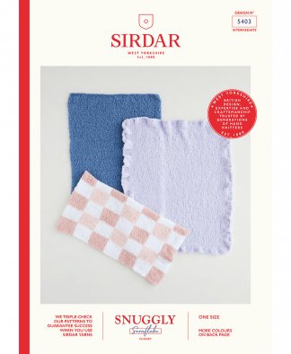 Sirdar 5403 Blankets in Snuggly Snowflake Chunky