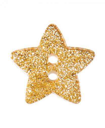Glitter Star Button Size 28 (18mm) - G438128