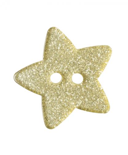 Glitter Star Button - 28 Lignes (18mm) - Yellow (3)