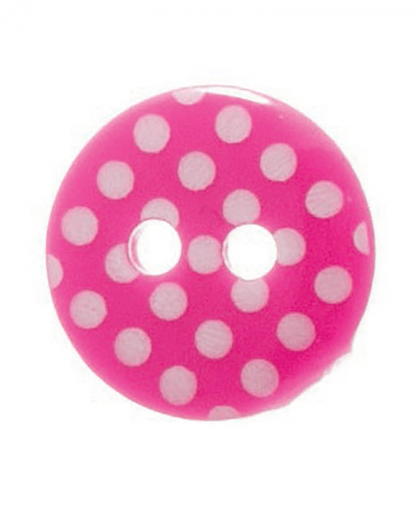 Round Spot Button Size 20 (12mm) - Bright Pink (7)