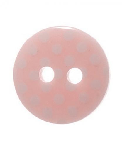 Round Spot Button Size 20 (12mm) - Light Pink (6)